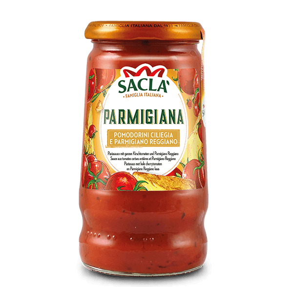 Parmigiana – cherry tomatoes and Parmigiano Reggiano