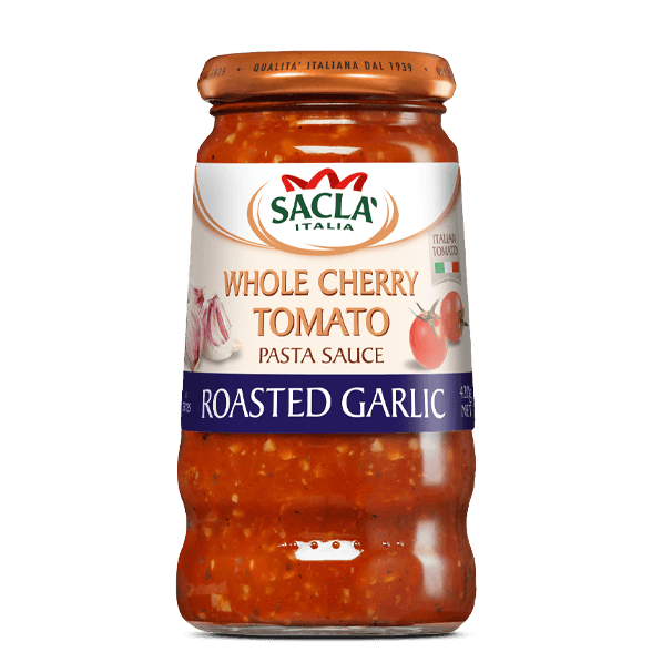 Cherry tomato and roasted garlic pasta sauce